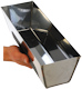 Stainless Steel Mud Pan 12 inch - Contoured Base