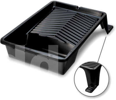11 inch Black Plastic Paint Tray with Feet