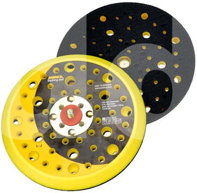 Mirka CEROS 150mm Replacement Abranet Backing Pad