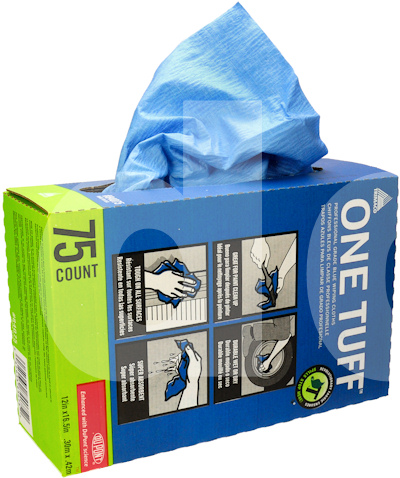 Trimaco One Tuff Blue Wiping Cloths